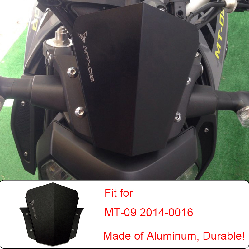 Motorcycle Motorbike Windshield Windscreen For Yamaha MT-09 MT09 MT 09 2014 2015 2016 High Quality Aluminum Durable Brand New yomt motorcycle motorbike windshield smoke race screen for yamaha tmax530 2012 2014 2013 12 13 14 windscreen