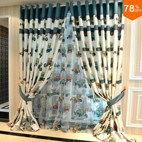Lovely Toy Car Curtain Classical Curtains Kids Garden Children Curtain  Silky Drapery Quality Drapes Finished Curtain For Child In Curtains From  Home ...
