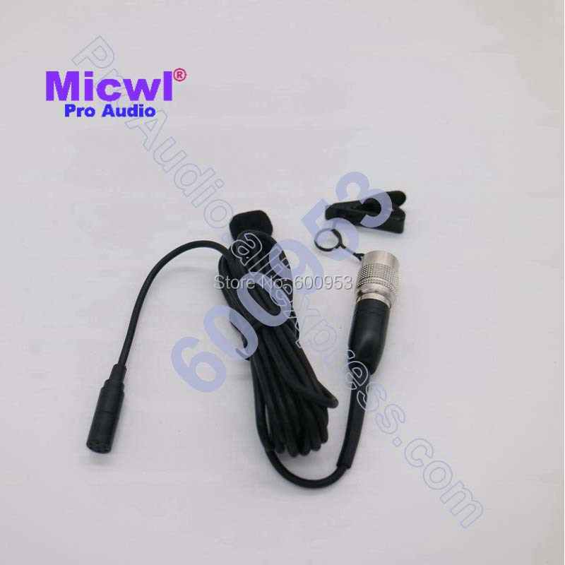 Micwl me2-ath mke2 design omnidirecional bolso sem fio de lapela lapela clip on microfone para audio technica-hirose 4 pinos