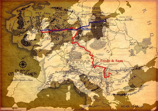 the middle earth road map living classic vintage retro kraft decorative poster maps wall canvas sticker