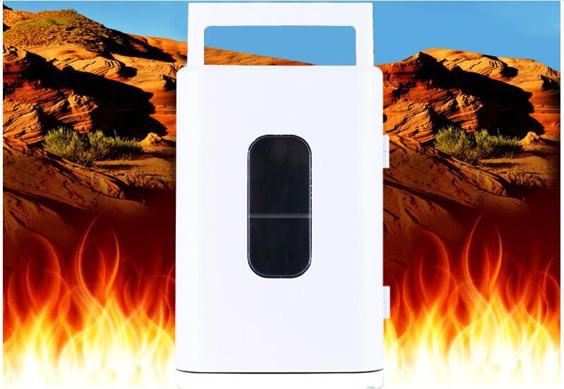 Calore auto Elettrica 12 V Riscaldamento auto Frigorifero del dispositivo di Raffreddamento di raffreddamento + + caldo Compatto Portatile A doppio uso Auto/casa Mini Frigo 12 V 10 L - 6