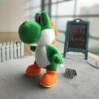 34 cm Super Mario Bros Standing Dragão Yoshi Yoshi Bonecos de Pelúcia Brinquedo de Pelúcia Macia Peluche Boneca Crianças Presentes Frete Grátis