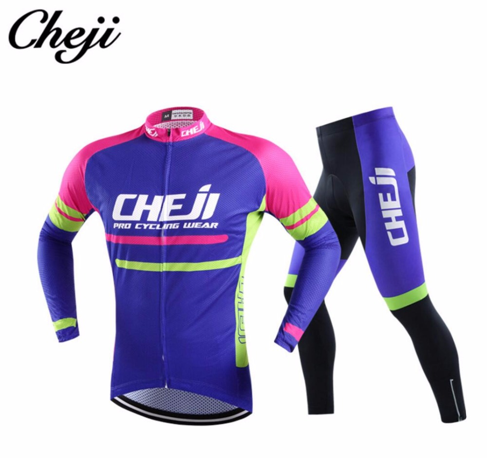 8ea3efdfb Che Ji Jersey Riding Long Sleeve Trousers Outdoor Sports Jersey Suit Men s  Jersey Outdoor Sports Equipment -in Cycling Sets from Sports    Entertainment on ...