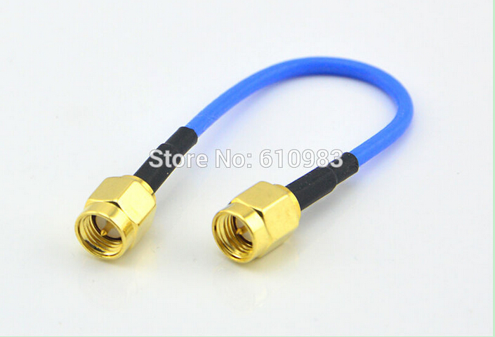 10 Pieces SMA Extension Jumper Cord SMA Plug to SMA male Coaxial Connector Adapter Blue RG316