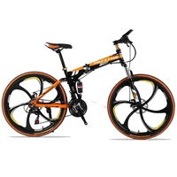Youma 24 Speed 26 Inch Folding Mountain Bike Two Disc Brakes Damping Bike Student Male Women