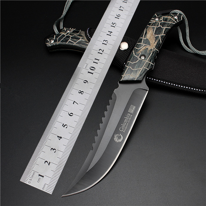 2017 New Free Shipping Tactical Knife Straight Knives Self-defense Wild Wilderness Survival Hunting Folding Fruit Cutter Tools wilderness survival fire sparkle and blade cutter tool