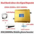Conjunto completo Kit Repetidor de Banda Dupla CDMA DCS Signal Booster 850 Mhz 1800 Mhz 4G LTE Celular signal booster com Antena e cabo