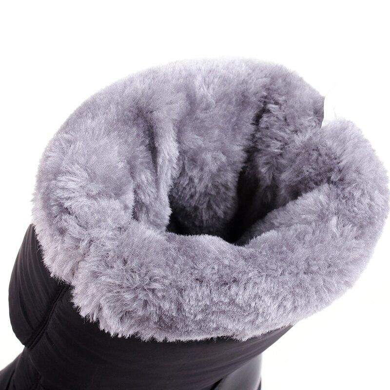 Mode mollet Cristal Botas De Haute Étanche brown Bottes Bas Neige Coins Black Chaussures Mi Dames Femmes D'hiver iOTZuXPk