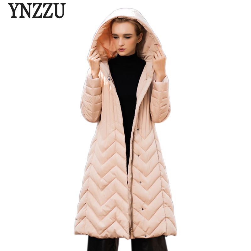 YNZZU New Winter Women's Jacket Coat Warm Women Down Parkas Pink Thickening Cotton Padded Female Jackets Plus Size 7XL YO346 winter jacket female parkas hooded fur collar long down cotton jacket thicken warm cotton padded women coat plus size 3xl k450