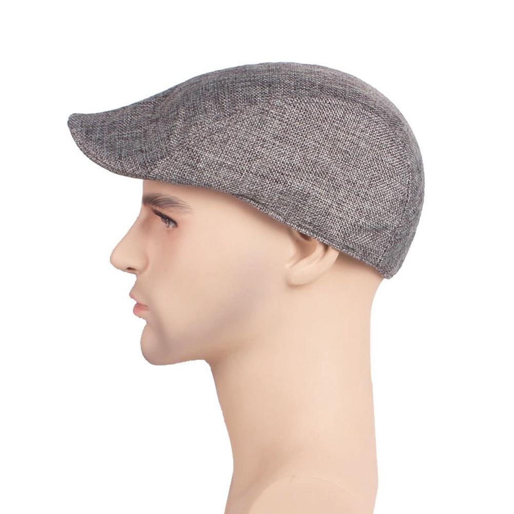 Unisex Cotton Linen Beret Cap Duckbill Ivy Flat Cap Cabbie Newsboy Fashion Hat