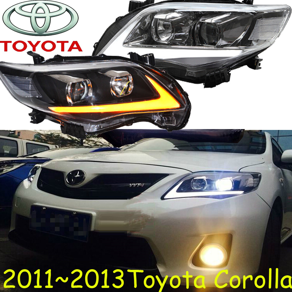 Corolla headlight,2011~2013/2014~2016,Free ship! Corolla fog light,2ps/set+2pcs Ballast,Altis 2011 2013 golf6 fog light 2pcs set wire of harness golf6 halogen light 4300k free ship golf6 headlight golf 6