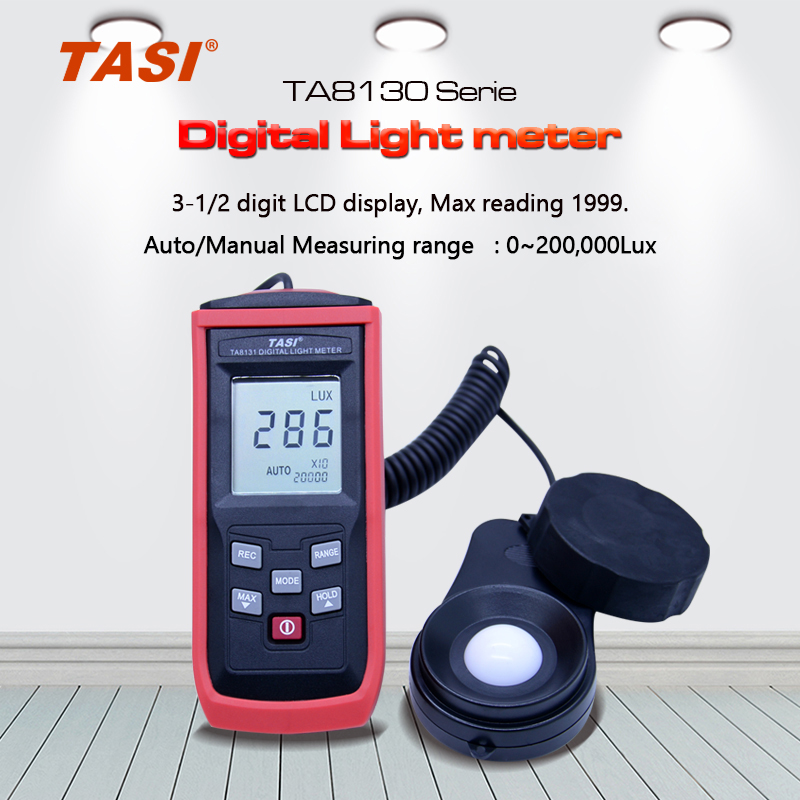 TASI TA8133 200,000Lux Digital LCD Pocket Light Meter,tachometer luxmeter Lux/FC Measure Tester tachometer luxmeter yousailing 16 400mm heavy duty double hand manual riveter gun hand riveting tool hand rivet nut gun m3 m4 m5 m6 m8 m10 m12