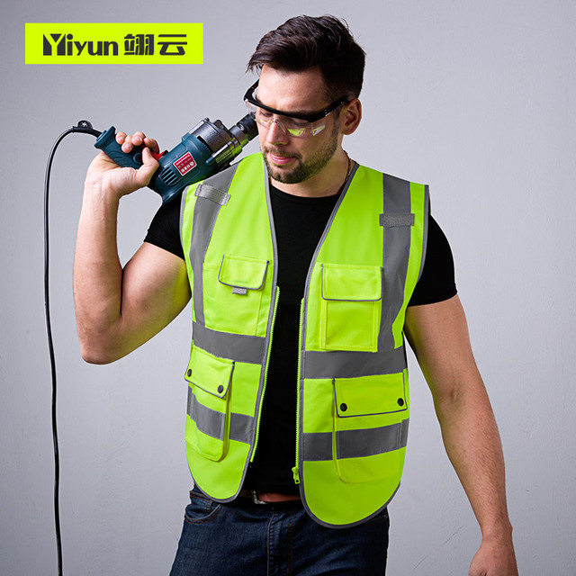 Safety protective coat for construction of reflective vest construction vehicle traffic road administration fluorescent clothes 4