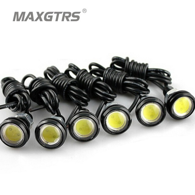 10pcs High Brightness DRL 23mm Eagle Eyes Daytime Running Light LED Car  Work Lights Source Waterproof