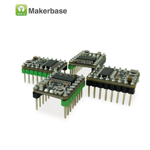 3 módulo del conductor del motor de pasos DRV8825 4-layerPCB Dprinter 5 unids/lote MKS versión optimizada + disipador de calor de enfriamiento bueno/protección de seguridad