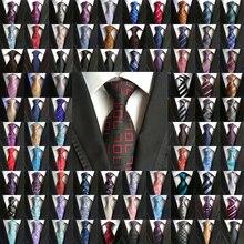 도매 (20 개/몫/많은) 클래식 100% 실크 망 넥타이 넥타이 8cm 페이즐리 넥타이 남자 비즈니스 웨딩 파티 Gravatas