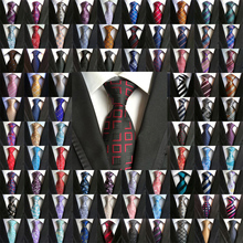 Toptan (20 adet/grup) klasik % 100% İpek erkek bağları boyun bağları 8cm Paisley kravatlar erkekler İş düğün parti Gravatas