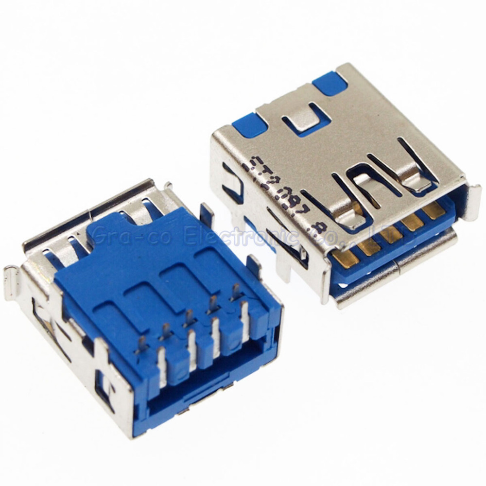 20pcs/lot Notebook 3.0 USB port interface for ASUS ACER HP SONY DELL SAMSUNG etc 3.0 USB Connector
