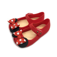 Children S Sandals Girls Spring And Summer Lovely Jelly Baby Wave Point Butterfly Knot Shoes Comfortable