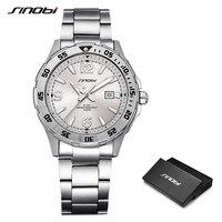 SINOBI 10Bar Waterproof Mens Diving Sports Wrist Watches Auto Date Top Luxury Brand Luminous Males Geneva Quartz Watch 007 Clock