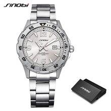 SINOBI 10Bar wodoodporne męskie nurkowanie sportowe zegarki na rękę Auto data Top luksusowa marka Luminous mężczyźni zegarek kwarcowy genewa 007 zegar