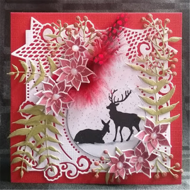 GJCrafts Christmas Star Frame Dies Metal Cutting Dies New 2019 for Scrapbooking Card Making Cover Background Craft Die Cuts 6
