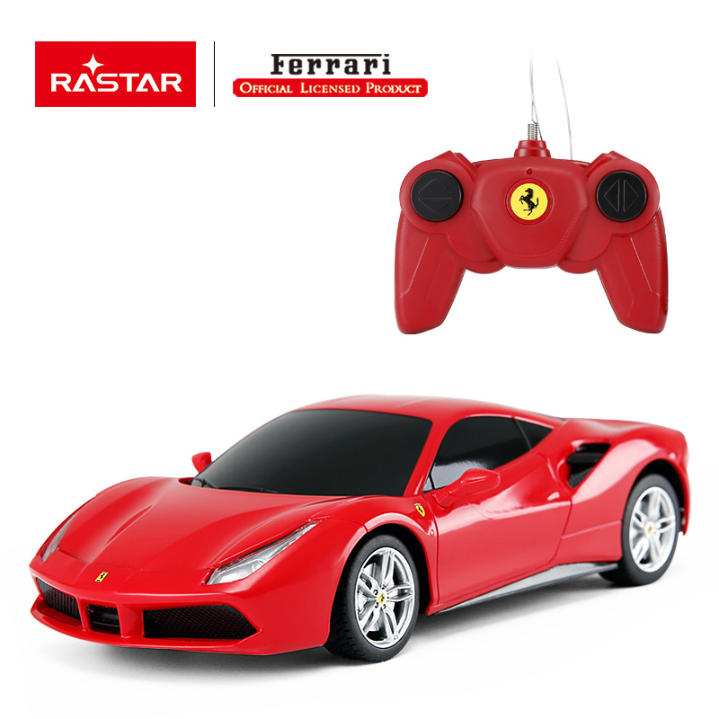 Rastar Licensed R/C 1:24 Ferrari 488 GTB Remote Control Car/ High Speed Toy for Kids/Birthday Gift 76000