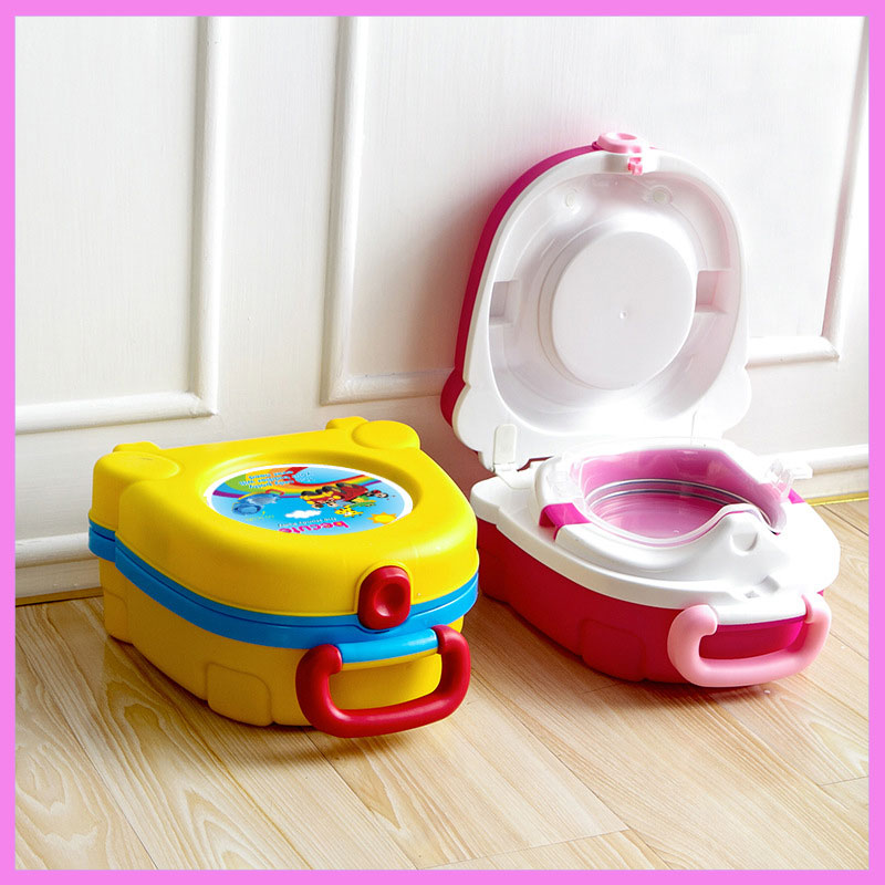 Child Travel Car Portable Toilet Training Potty Seat Urine Tub ...