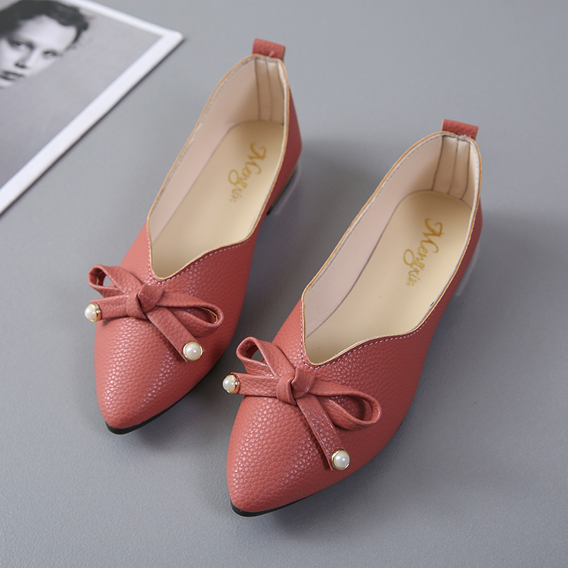 2018 New Casual Shoes Women Flats Shallow Pointed Toe Moccasins Patent Leather Ballet Flats Ballerina Loafers Ladies Boat Shoes 2018 women shoes comfort pointed toe patent leather ballerina ballet flats portable travel flats summer slip on shallow shoes