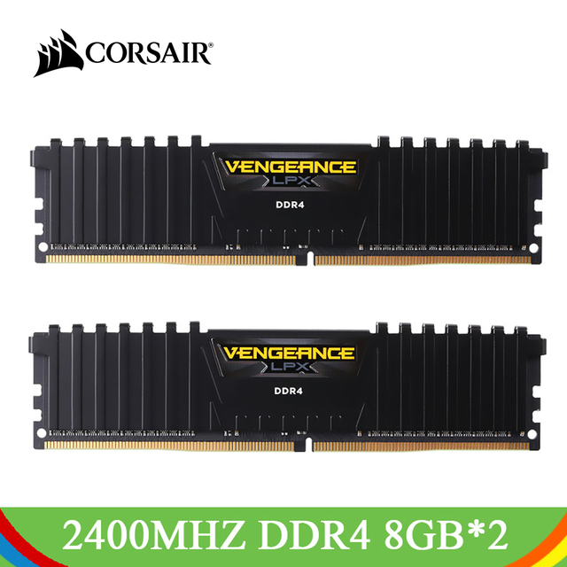 US $172 19 29% OFF|CORSAIR Vengeance LPX 16GB 2*8GB DDR4 RAM DRAM 2400MHz  C14 288 Pin 1 2V Memory Kit Memoria RAMs DDR4 For PC Computer-in RAMs from