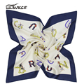 High Quality Brand Square Natural Silk Scarf Women 60*60cm Fashion Ladies Scarves Shawl Neck Foulard Femme 2017 Spring New Pz14
