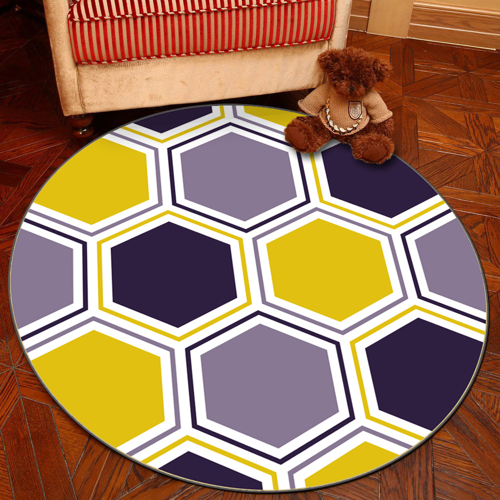 Zeegle European Round Carpet For Living Room Anti-slip Kids Bedroom Carpets Baby Play Mats Soft Computer Chair Floor Mats