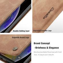 CaseMe Retro Leather Flip Case For iPhone