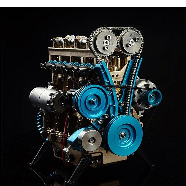 1:24 motor de cuatro cilindros enseñanza Full aluminio aleación modelo colección juguetes educativos juguetes niños adultos nueva llegada
