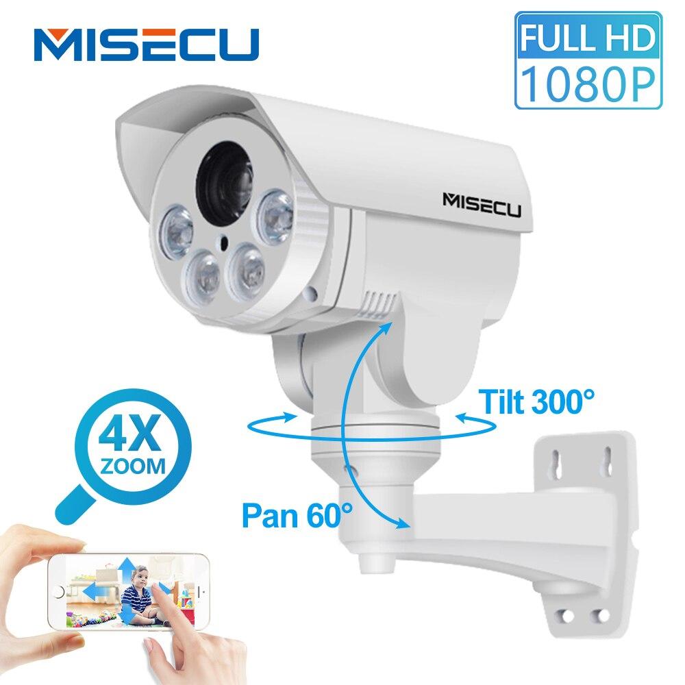 PTZ lP Camera 4x optical Pan Tilt Auto Zoom 2.8 12mm Sony IMX222 2.0MP FULL HD IP Onvif P2P Night Vision 4pcs Array led security