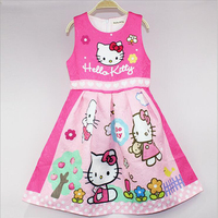 Dress For Girls Cute Sundress Hello Kitty Princess Dresses For Wedding Party Dress Costume For Kids