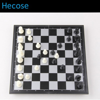 Free Shipping Chess Set Top Quality Wooden Chess Pieces Folding Board Set Magnetic Chessman Travel Home