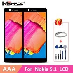 5.5 For Nokia 5.1 LCD 5 (2018) TA-1061 TA-1075 TA-1076 TA-1081 TA-1088 wyświetlacz LCD ekran dotykowy wymienne części digitizera