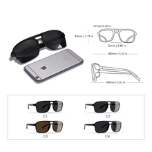 EXQUISITE Polarized Sunglasses – *MEN* UNIQUE TEMPLE – Driving & Travel – Style & Luxury Continue Unstoppable – UV400 Protection