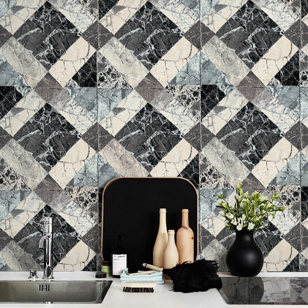 HaokHome Modern Faux Marble Stone Wallpaper Gray/Lt.Grey 3D Textured BrickPaper Rolls Living room Bedroom Home Wall Decoration футболка oakley spirit tee stone gray