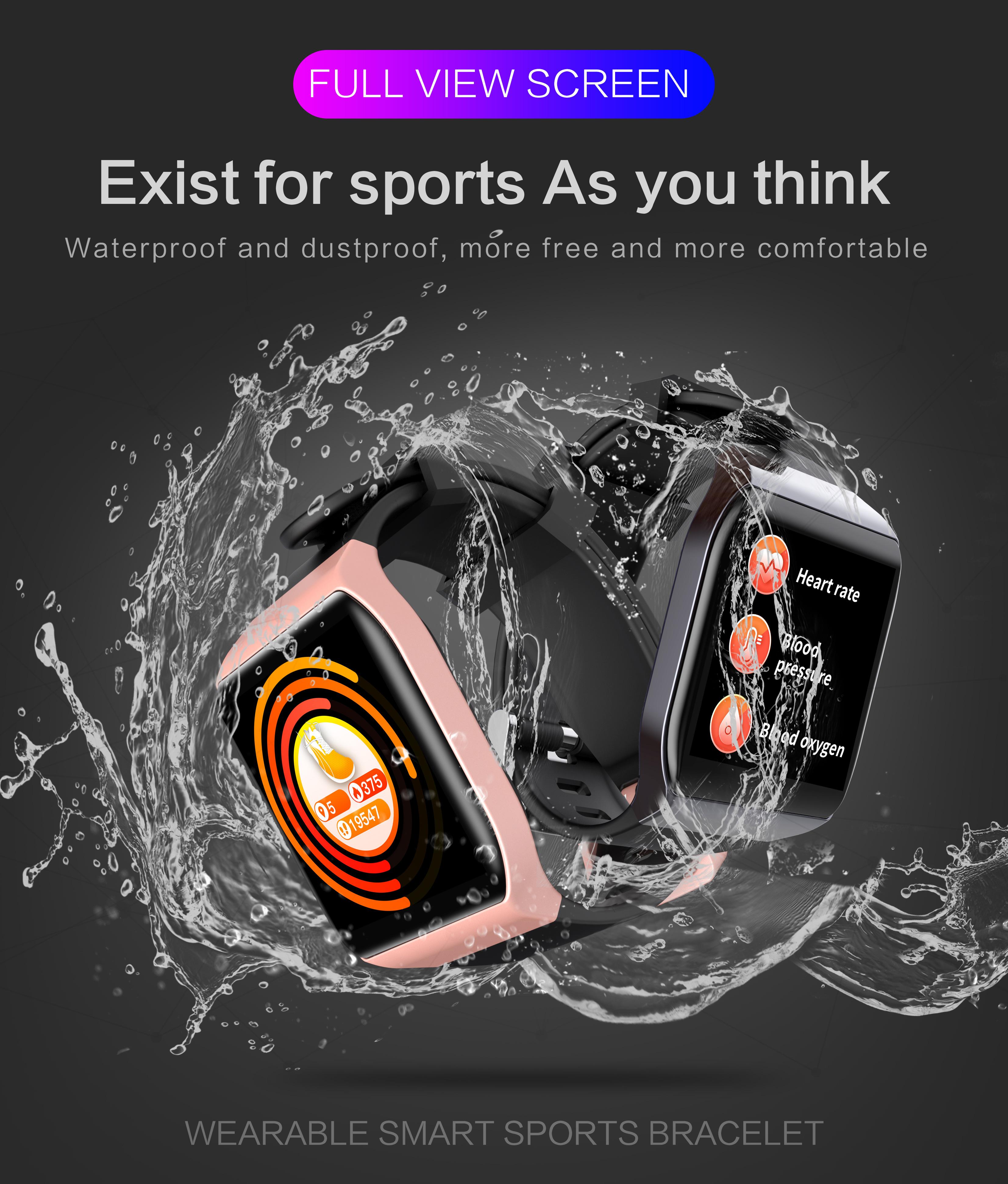 KSUN KS58 pulsera inteligente banda con Monitor de ritmo cardíaco 1