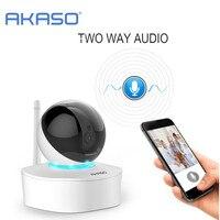 AKASO 2MP HD Inalámbrica Wifi cámara IP 1080 p Cámara de Interior de Seguridad Sistema de Vigilancia Doméstica Bebé Monitor de detección de Movimiento