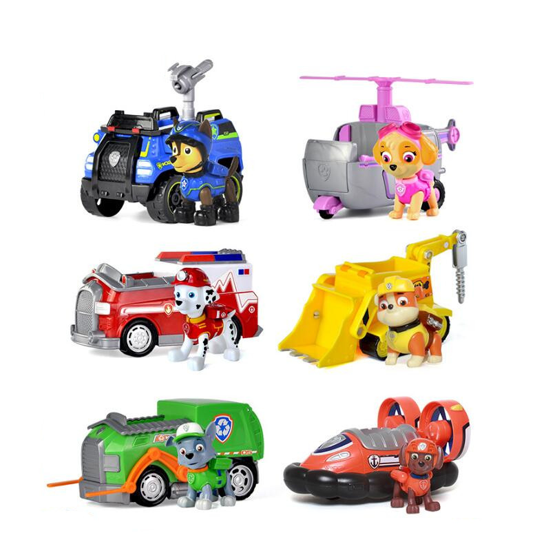 Genuine Paw Patrol dog Puppy patrol car Action Figures vehicle Toy dog Patrulla Canina Juguetes toys gift canine patrol dog toys russian anime doll action figures car patrol puppy toy patrulla canina juguetes gift for child