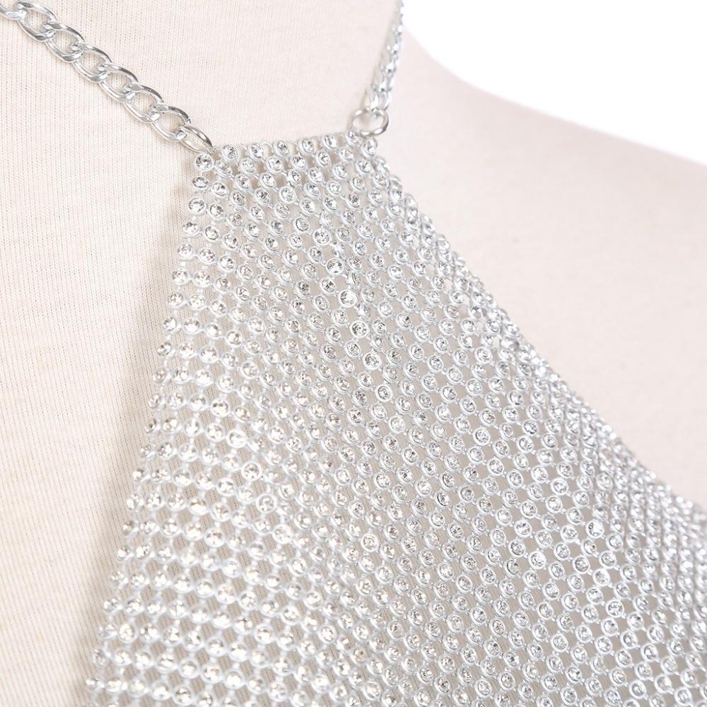 HTB1YSdnlTTI8KJjSsphq6AFppXah Rhinestone Metal Mesh Crystal Body Chain Jewelry