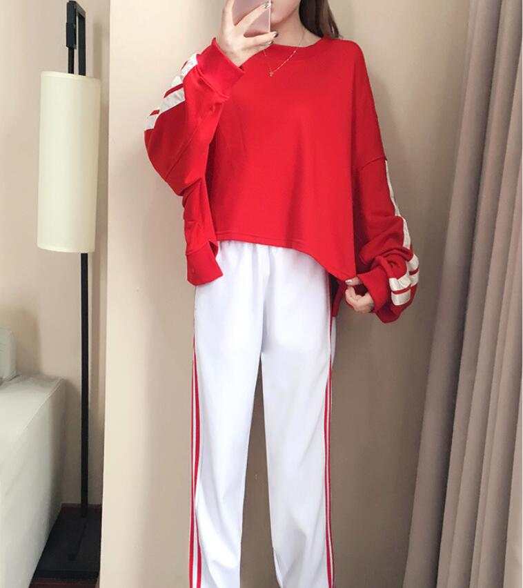 Casual suit female spring and autumn 2018 new autumn loose long-sleeved sweater trousers two sets of tide 3