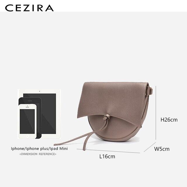 CEZIRA Brand Designer Women Shoulder Flap Bags High Quality Vegan Leather Handbag Ladies Solid Girl Fashion Cross body Messenger 5