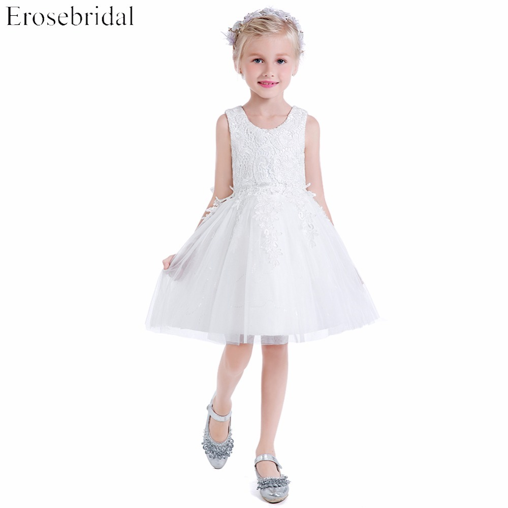 Smart Lace A Line Flower Girls Dresses 2018 New Erosebridal Wedding ...