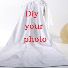 Полотенце с индивидуальным фото 140x70 см, банное полотенце из микрофибры, дорожное полотенце, пляжное полотенце для сушки, оптовая продажа пляжных полотенец