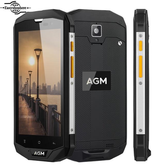 AGM A8 IP68 Waterproof Phone Qualcomm MSM8916 Quad Core 3GB+32GB Smartphone 5.0 Inch 4050mAh Big Battery NFC OTG 4G Mobile Phone