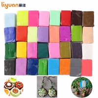 5 Tools Liyuan Polymer Clay Oven Baked Colorful Modelling Moulding 32 Blocks Creative DIY Malleable Fimo